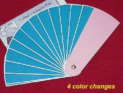 4-way color changing Fan large opens to 9x18 inches vibrant colors     TMGS