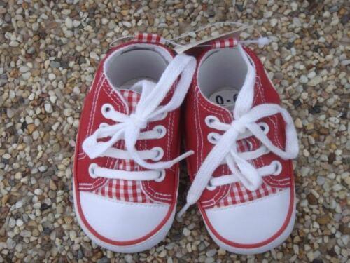 11,0 cm unbenutzt ca Puppenschuhe Babyschuhe rot/weiß
