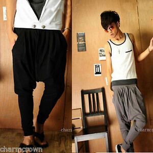 Men-Women-Dance-Hip-Hop-Trendy-Stretchable-Harem-Casual-Trousers-Baggy-Pants