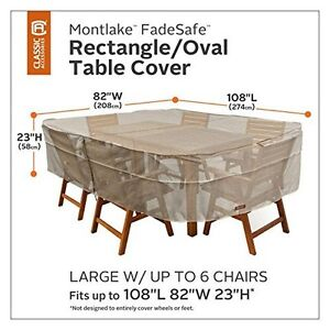 5d372ccaf663 Image is loading Classic-Accessories-Montlake-Rectangle-Oval-Patio-Table -amp-
