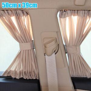 2Pcs-Universal-Car-Van-SUV-VIP-Window-Curtain-Anti-UV-Sunshade-Visors-50X39cm