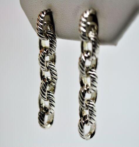 A100 Simply Design Unique Style Rhodium Plaqué Câble Forme Goutte Fashion Boucle d/'oreille