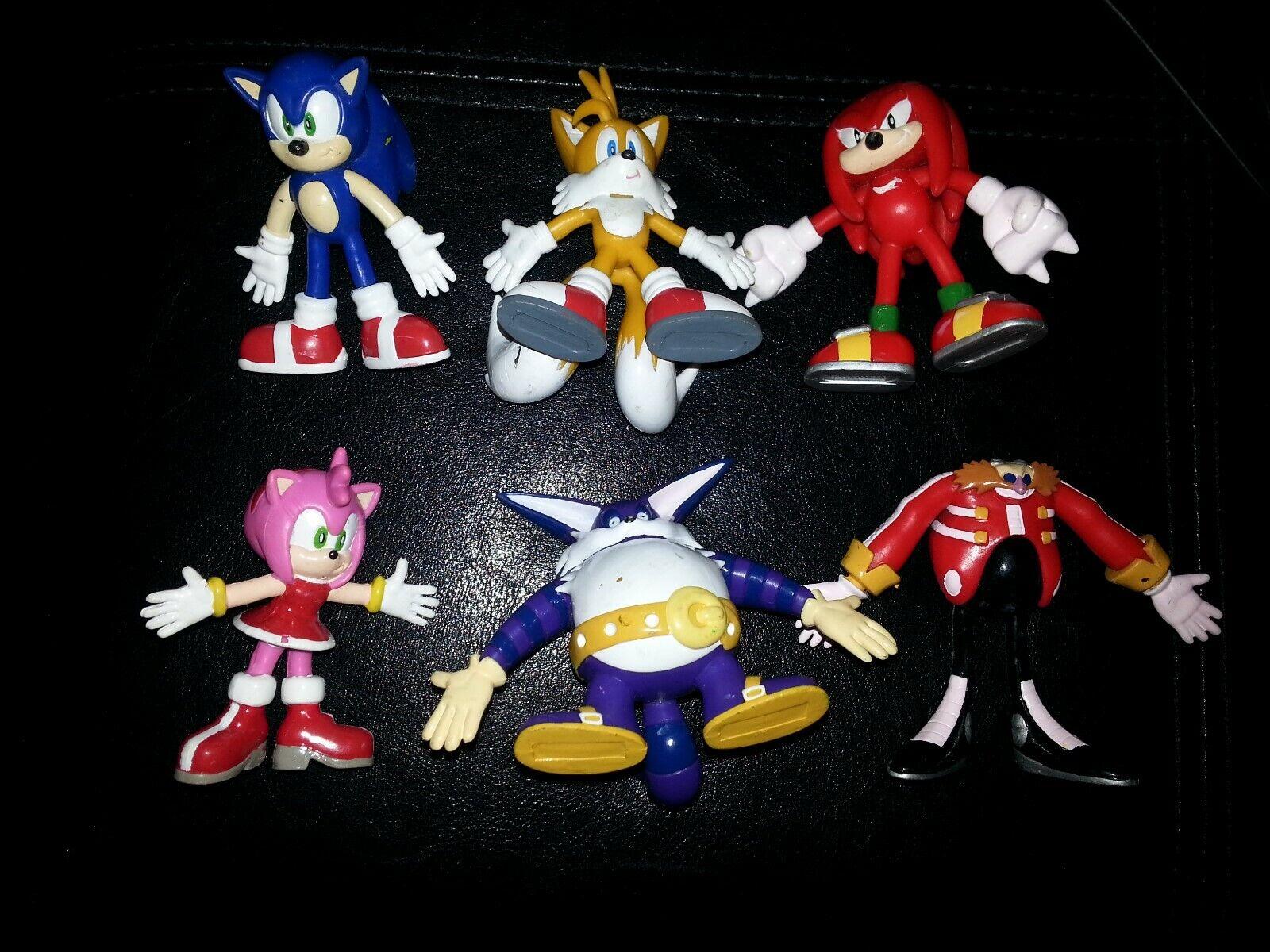 SEGA 2000 Sonic Adventures Sonic the Hedgehog Complete Set of 6 Bendable Figures