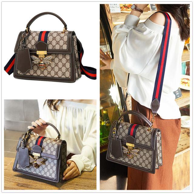 01ea05392412 Fashion Stripes GD Bee Women's Shoulder Bag Cross Body Tote Handbag  Briefcase