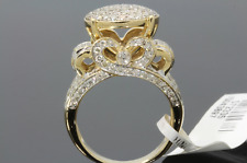 10K YELLOW GOLD 2.63 CT WOMENS REAL DIAMOND ENGAGEMENT RING WEDDING RING BRIDAL