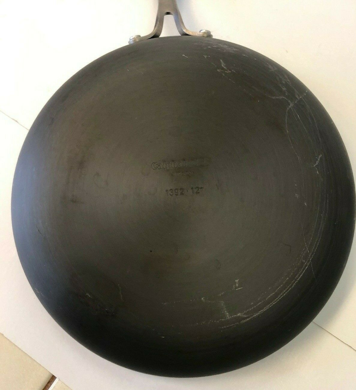 """Preowned 12"""" Frying Frying Frying Pan Cooking With Calphalon with Cover  1392 Skillet Fry 75ff46"""
