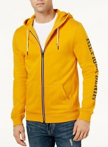 Tommy Hilfiger Men s Sunflower Yellow Dash Logo Print Full Zip ... 1ac5f844db5b2