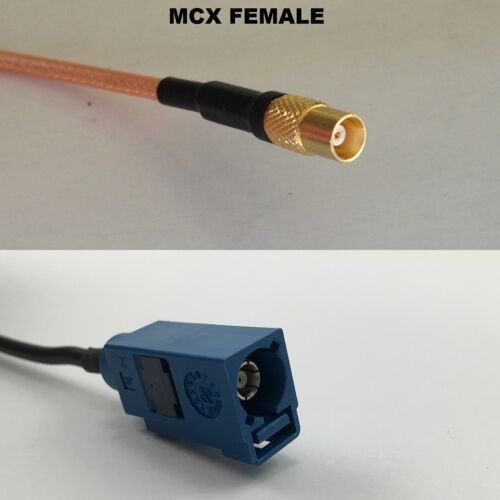 RG316 MCX FEMALE to Fakra Blue GPS Coaxial RF Cable USA-US
