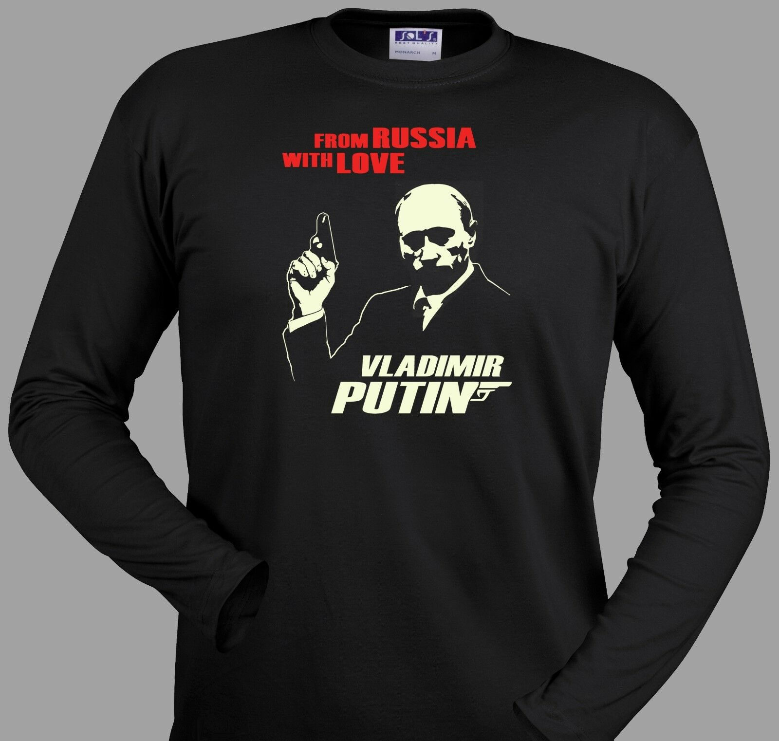 Putin T Shirt From Russia With Love Funny James Bond 007 Ussr Ebay