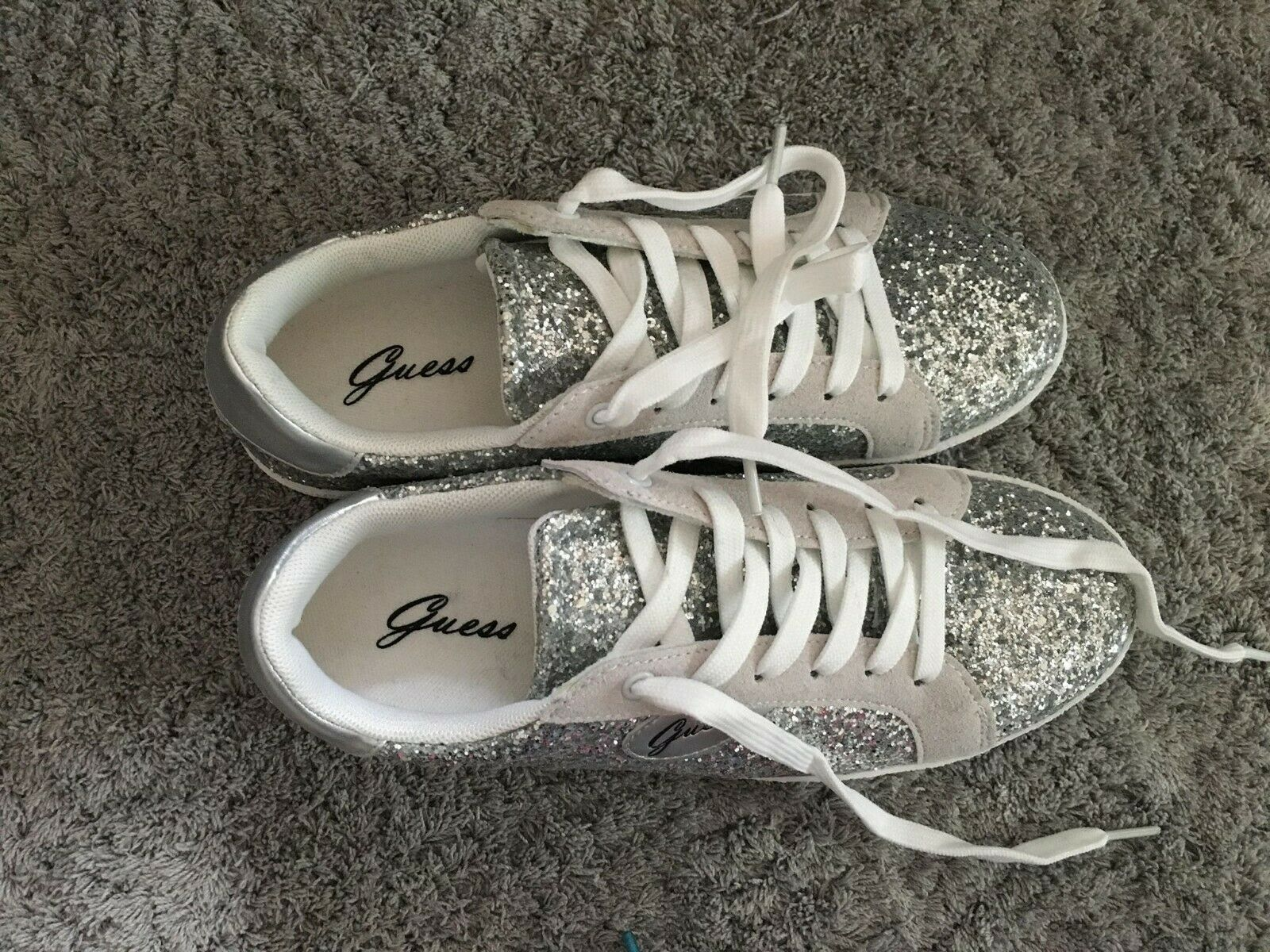 Guess Sneaker silver Glitzer NEU Größe 37