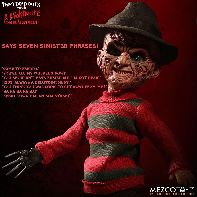 Mezco Toyz Living Dead Doll Nightmare On Elm Street Talking FROTdy Krueger 99400
