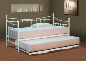 Stunning-White-Metal-Day-Bed-with-or-without-Trundle-and-Mattress-Options
