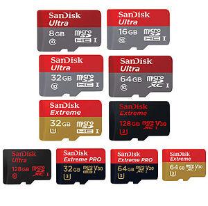 SanDisk-16GB-32GB-64GB-128GB-200G-256G-400G-Ultra-Extreme-Pro-micro-SDXC-Memory