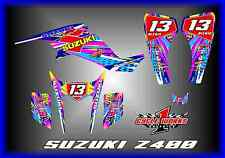 SUZUKI z400 LTZ QUADRACER KFX 400 SEMI CUSTOM GRAPHICS KIT BIPOLAR DOTTED