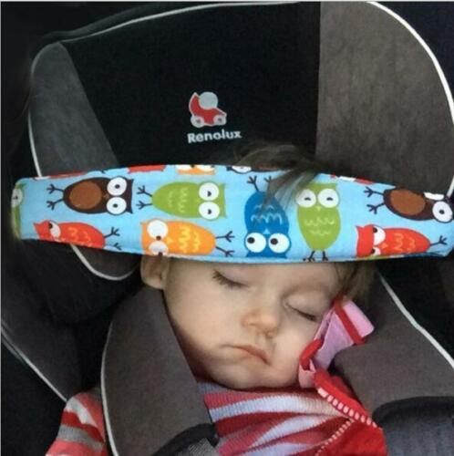 Cute Kids Head Support Holder Car Stroller Seat Sleep Nap Aid Belt Band Safety