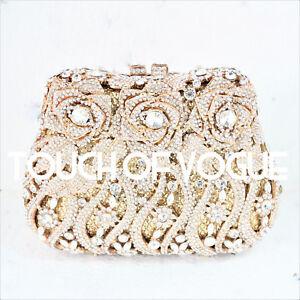 hecho Luxury Diamante la Purse Swarovski Embrague de boda del con prom de Evening wFqWZpPE1