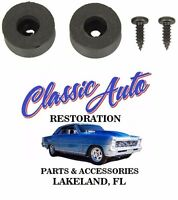 Gm Bucket Seat Back Rubber Stoppers Pair W/ Screws W-387