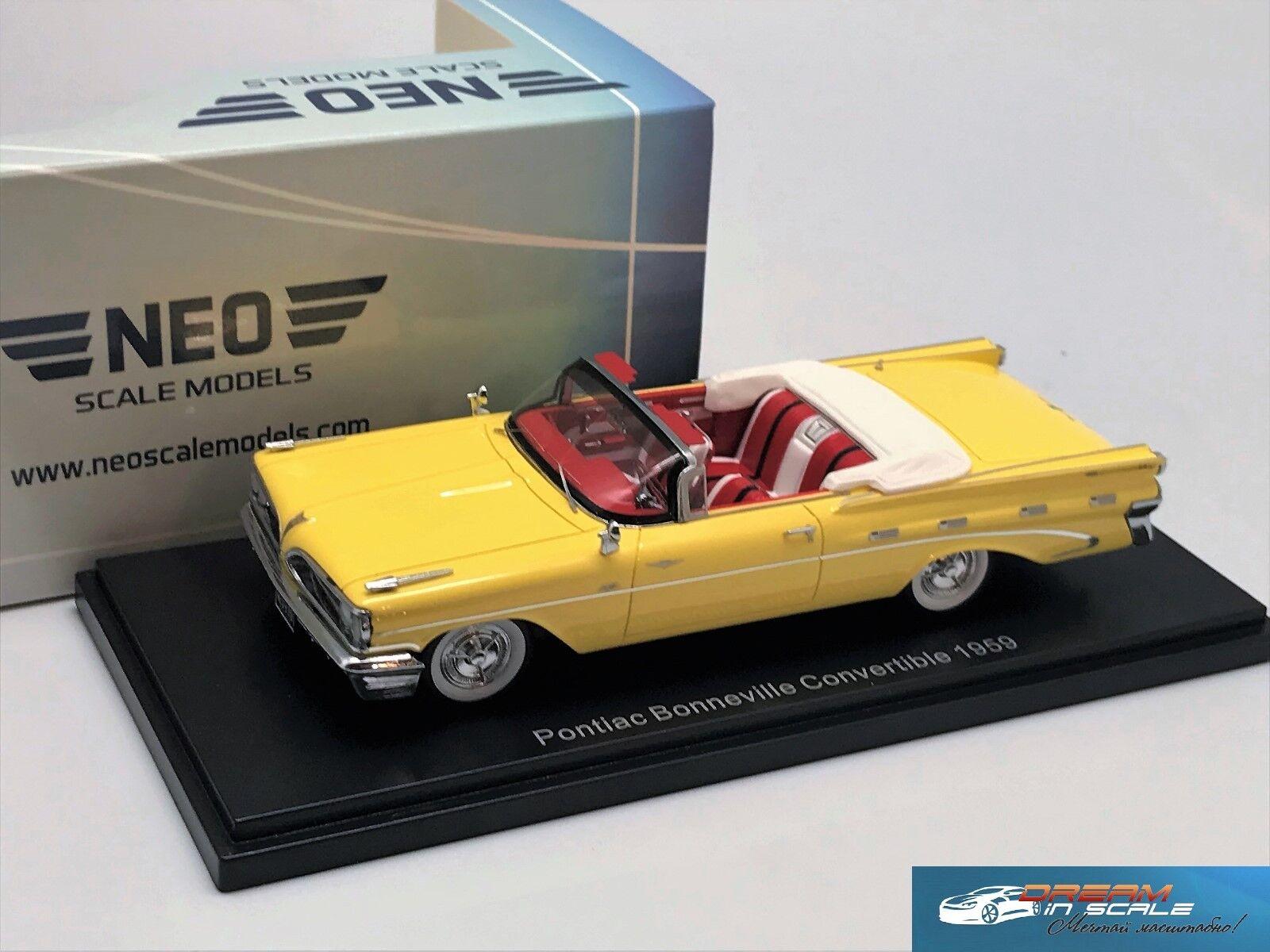 Pontiac Bonneville Congreenible 1959 Yellow White NEO 46030 1 43