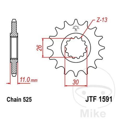 JT Front Sprocket 16T 525 Pitch JTF1591.16 Yamaha MT-09 850 2013-2014