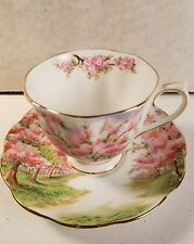 "ROYAL ALBERT FINE BONE CHINA ENGLAND ""BLOSSOM TIME"" CUP AND SAUCER"