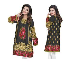 f27bec6a779 Women Indian Pakistani Designer Kurti Kurta Maria B Inspired Digital ...