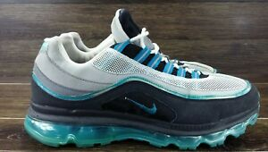 10bfe359038ef2 HTF NIKE AIR MAX 24-7 Glass Blue Medium Classic Gray 397252-010 Wolf ...