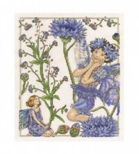 Cross Stitch Kit - 14 Count - DMC - Forget Me Not & Cornflower Flower Fairies