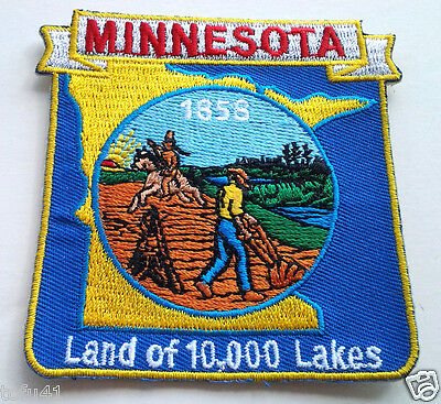 *** MINNESOTA STATE MAP *** Biker Patch PM6724 EE