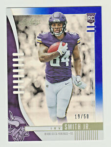 2019 Absolute SPECTRUM BLUE #121 IRV SMITH JR RC Rookie 19/50 Minnesota Vikings