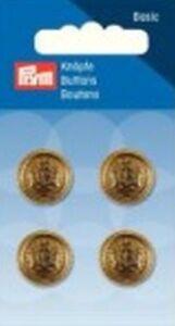 Prym-boton-con-ojales-ESCUDO-15mm-Oro-4pcs-art-nr-318730