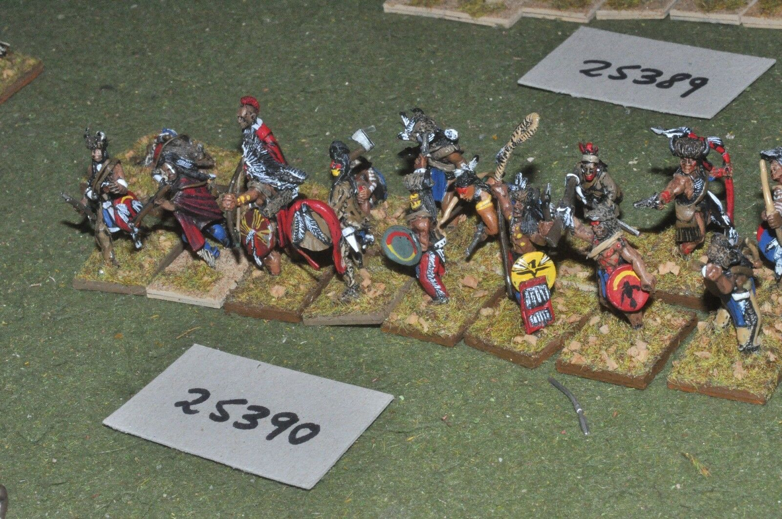 25mm ACW   old west - indian 16 figures - inf (25390)