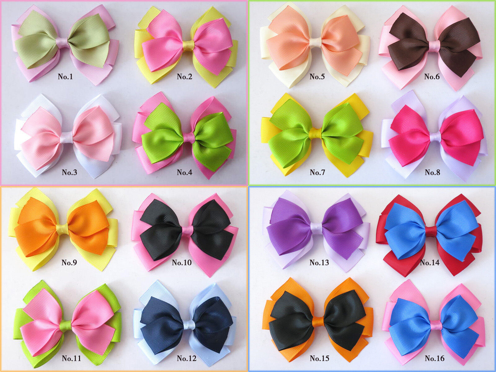 """200 BLESSING Good Girl Custom Boutique 2.5/"""" Bowknot Hair Bow Clip #420 Wholesale"""