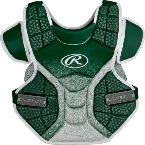 Rawlings Velo Series Softball Chest Protector Dark verde/bianca verde/bianca Dark Adult 14