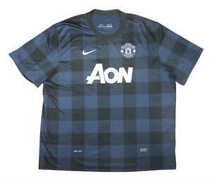 Manchester United 2013-14 ORIGINALE AWAY SHIRT (bene) XXXL Soccer Jersey