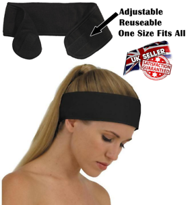 Black Headband Make Up Beauty Towelling Towel Cotton Spa Salon Facial Adjustable