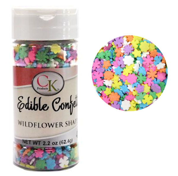 Wildflower Multi-Color Edible Confetti Sprinkles 2 4 oz from CK #11614