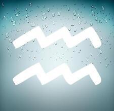 Adesivi adesivo sticker segno zodiacale astrologia macbook mac acquario bianco