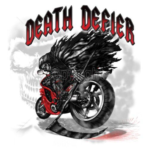 T Shirt schwarz Vintage HD Biker Chopper/& OldSchoolmotiv Modell Death Defier