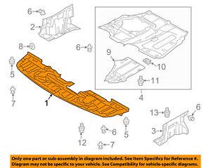 Details about MITSUBISHI Lancer Splash Shield-FR Under Radiator Cover  5379A537 ** CHECK VIN**