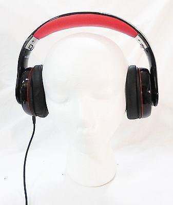 Sentey warp LS 4420 on ear stereo headphones folded black and Red