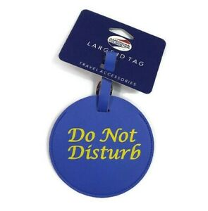 American-Tourister-Large-ID-Luggage-Tag-Travel-Accessory-034-Do-Not-Disturb-034-Blue