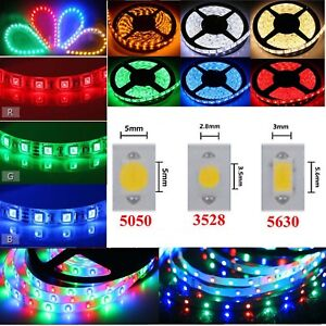 1 10m Waterproof Flexible Led Strip Lights 5050 3560 3528 Smd 300 Leds Roll 12v Ebay