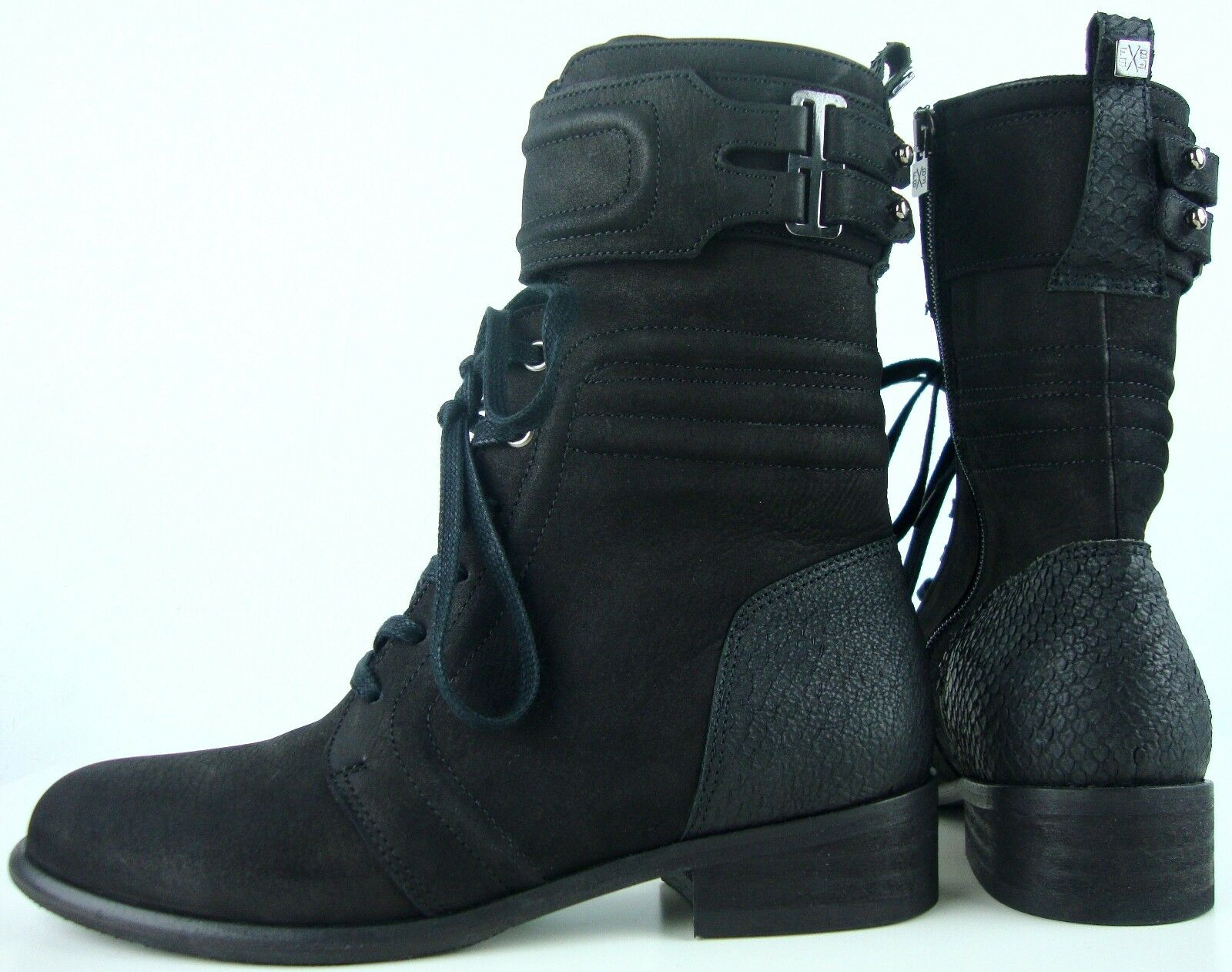 FLORIS VAN BOMMEL Damen Stiefeletten Boots Bootie Leder Schuhe Schwarz Gr.37 NEU
