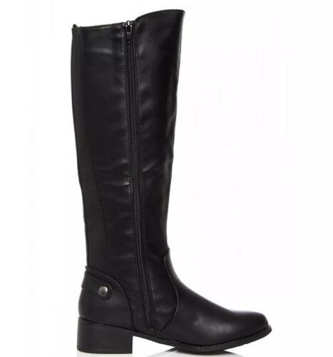 Riding Boots 3 Size High Black Knee Quiz Ladies Uk wOqS6P6
