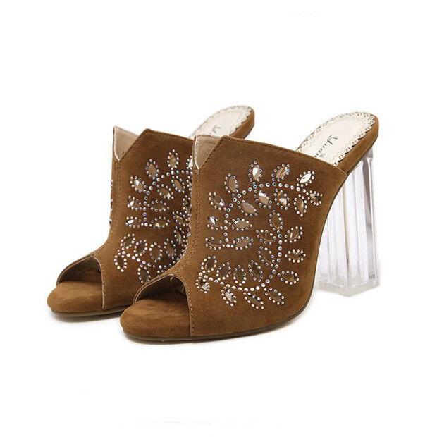 Sandals zapatos elegant heel square 9.5 cm Beige like skin 9703