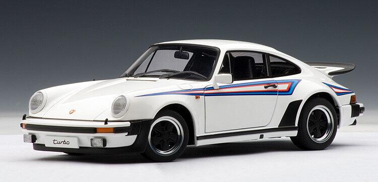 1 1 1 18 AUTOart  1975 Porsche 911 3.0 Turbo Weiß w  Martini Stripes - RARITÄT 5f6118