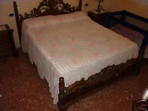 Copriletto Matrimoniale All Uncinetto.Dettagli Su Favoloso Copriletto Matrimoniale In Cotone All Uncinetto