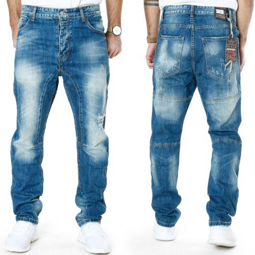 MAX /& LIUUomo Anti Fit Jeans-Pantaloniprofondo passoPantaloni lunghi cavallo bassoml6790 BLU