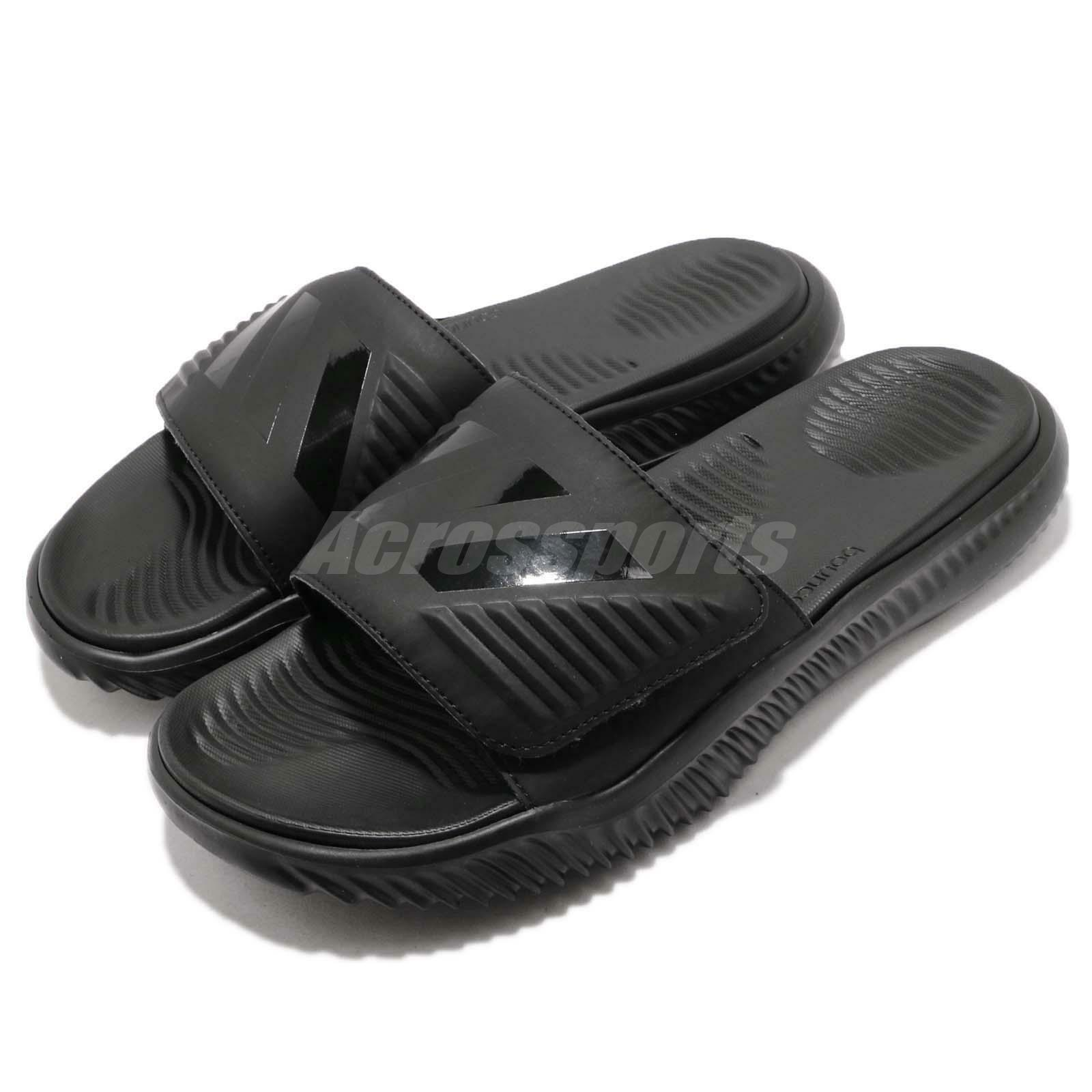 adidas AlphaBounce Slide Triple Black Men Sports Sandals Slippers B41720