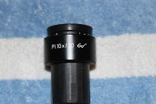 Zeiss Microscope Eyepiece Pl 10x 20 With Diopter Ring 30mm Tube